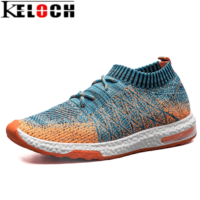 Enthusiastic Keloch 2017 Summer/autumn Newest Men Cushion Running Shoes Weaving Flyweave Mesh Breathable Running Ankle Boots For Men Sneakers Making Things Convenient For Customers Running Shoes Sports & Entertainment