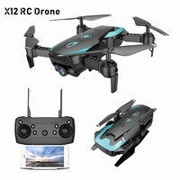 X12 FPV RC Foldable Dron with Camera HD Wide Angle Wifi RC Quadcopter Altitude Hold One Key Return Headless Mode3D FlipVS X5C