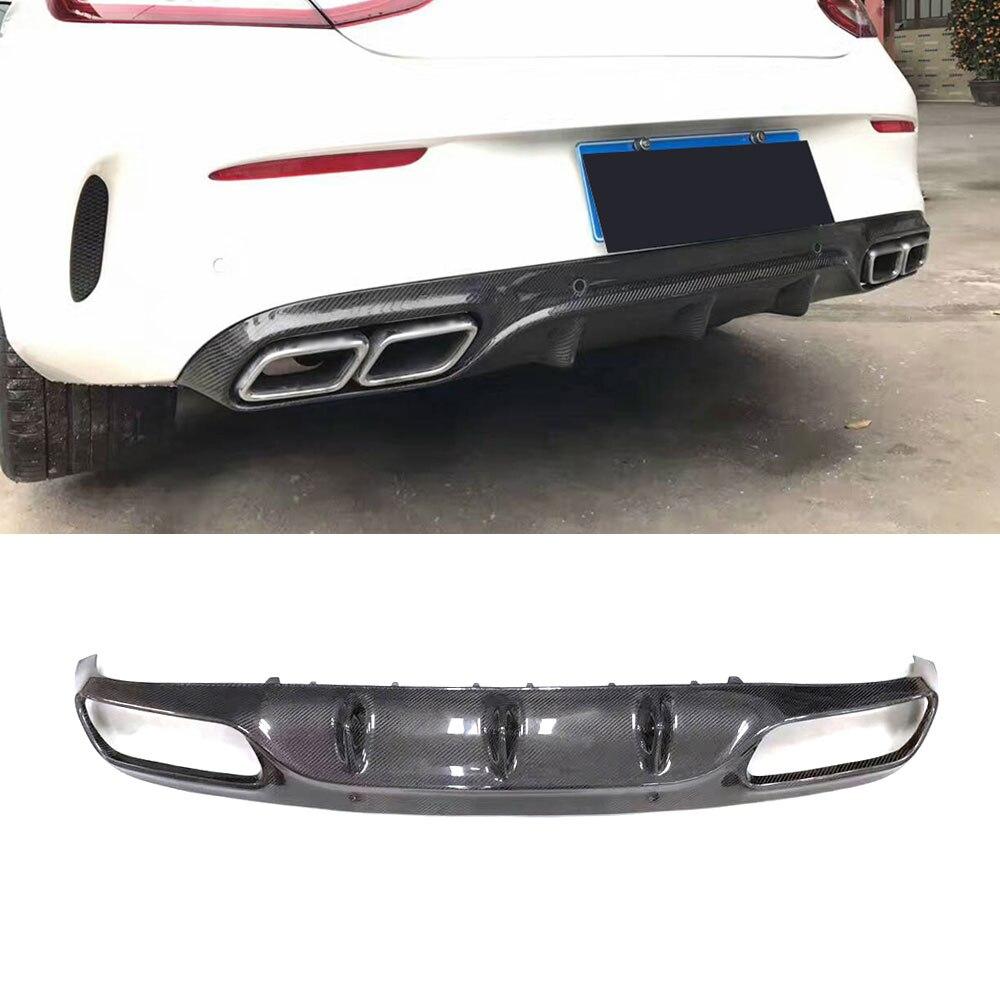 Для C205 C63 O Стиль углеродного волокна заднего бампера для губ Диффузор для Mercedes Benz C Class W205 C205 C63 AMG coupe C200 2015 2016 2017