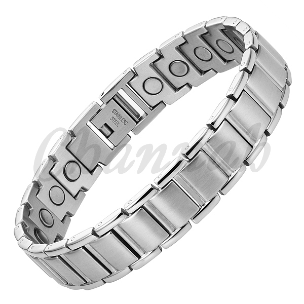 Channah 2017 Magnetic Bracelet Men Stainless Steel 22pcs Magnets Silver Charm Free Shipping Health Bio Jewelry Gentlemen Bangle