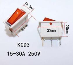 Elektryczne patelni części wok przełącznik łodzi ze światłem KCD3 15-30A 3000 w