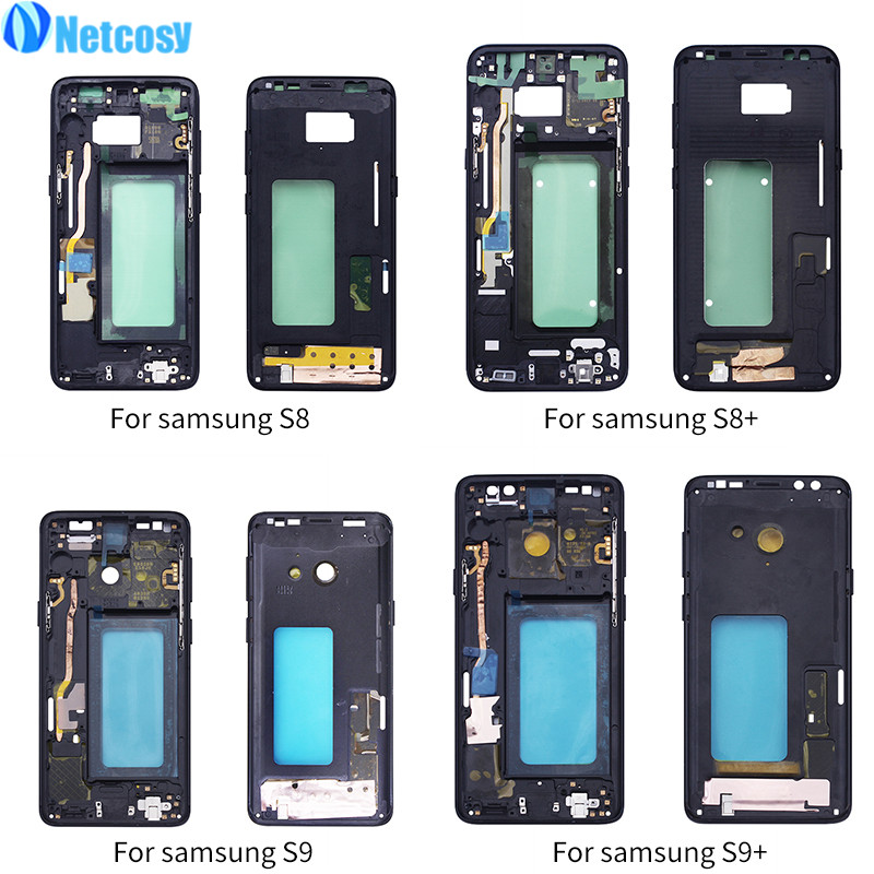 Netcosy For Samsung S8 G950 S8 Plus G955 Middle Frame Plate Bezel Housing Cover Replacemenrt For Samsung S9 G960 S9 Plus G965