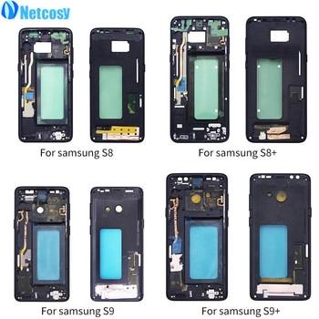 161b1d7f28f Netcosy para Samsung S8 G950 S8 más G955 medio marco placa Cubierta  Replacemenrt para Samsung S9 G960 S9 más G965