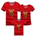 Family Clothing Cotton Family Look 2016 Family Matching Outfits T Shirt Children Clothing Cartoon Christmas Deer Summer T shirts