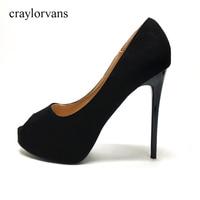 2017 Brand Shoes Woman High Heels Peep Toe Platform Women Pumps Stiletto Thin Heel Women S