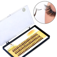Women Pro Makeup 60 Pcs Clusters Beauty Eye Lashes Grafting Fake False Eyelashes
