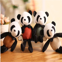 1PCS Mini Panda Creative Long Leg Pendant Cute National Treasure Keychain Plush Toy Small Children Gift