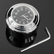 Черные Водонепроницаемые часы 7/8 для мотоцикла Halley, крепления на руль, кварцевые часы серебристого цвета#0928