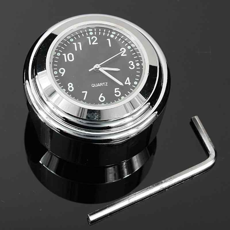 New Arrival High quality Waterproof 7/8 for Halley Motorcycle Bike Handlebar Mount Clock quartz Watch silver color #0928