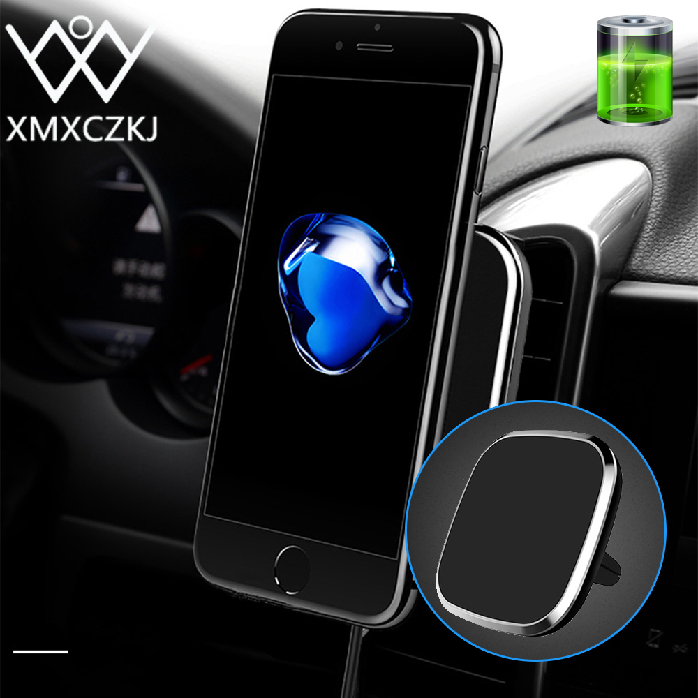 XMXCZKJ Wireless Charging Phone Magnetic Holder Air Vent Mount For Samsung Iphone X Wireless Charger Magnet Phone Holder Stand