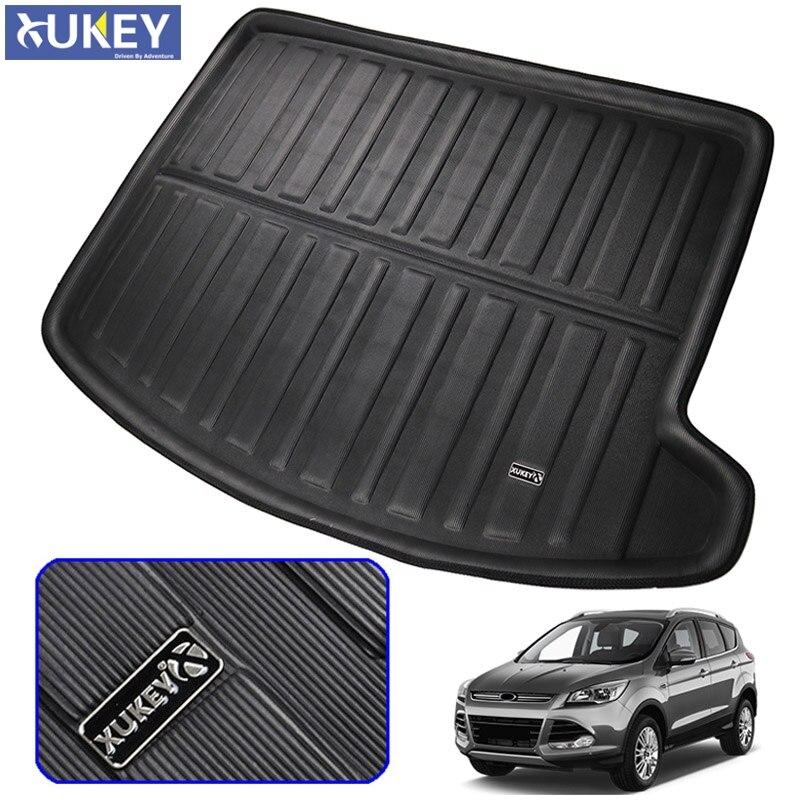 fit for ford escape kuga 3d 2013 2015 2016 2017 2018 boot mat rear trunk liner cargo floor tray. Black Bedroom Furniture Sets. Home Design Ideas