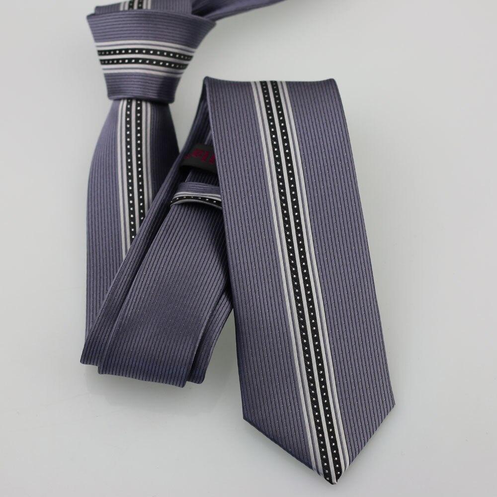 Yibei Coachella Галстуки серого чугуна галстук тонкий с серебром маленькие точки серебро Доры в Вертикальную Полоску Corbata Для мужчин микрофибры галстук