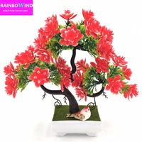2017 New Arrival Artificial Decorative Flowers Wreaths Plants Tree Flower Bonsai Fake Flowers Pine Trees Komatsu