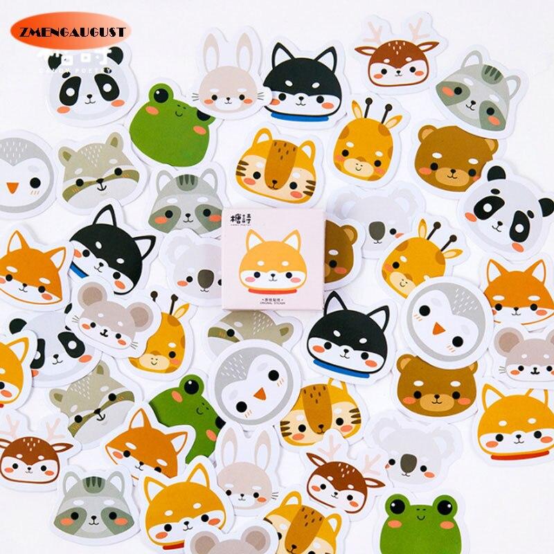 45 Pcs box Cute Small font b pets b font Mini Paper Sticker Decoration diy Diary