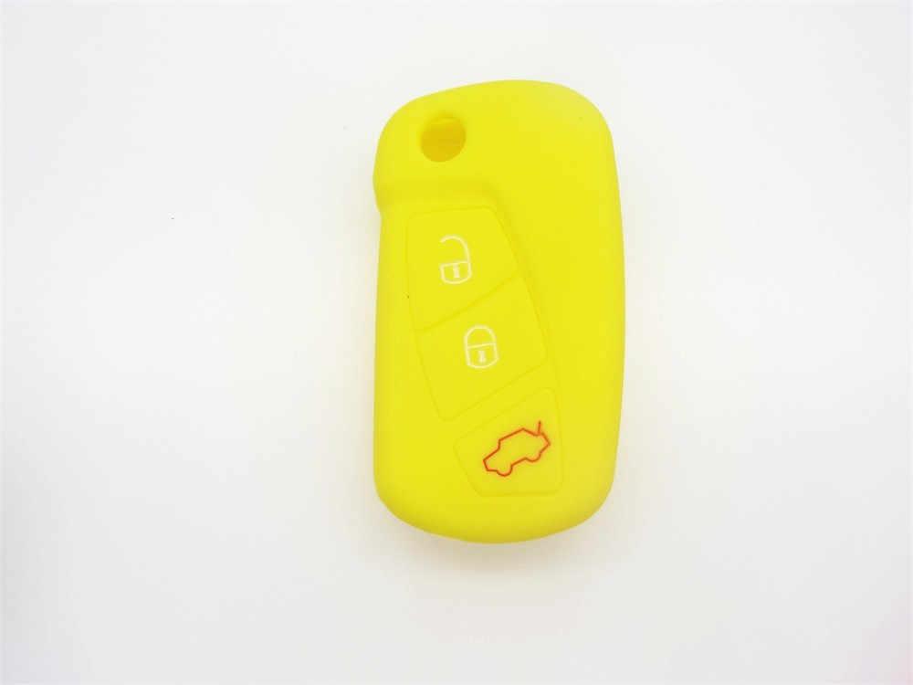 AUTEWODE Capa de Silicone Para Ford KA 3 Botão Remoto Flip Chave Fob Capa Proteja shell Titular em branco