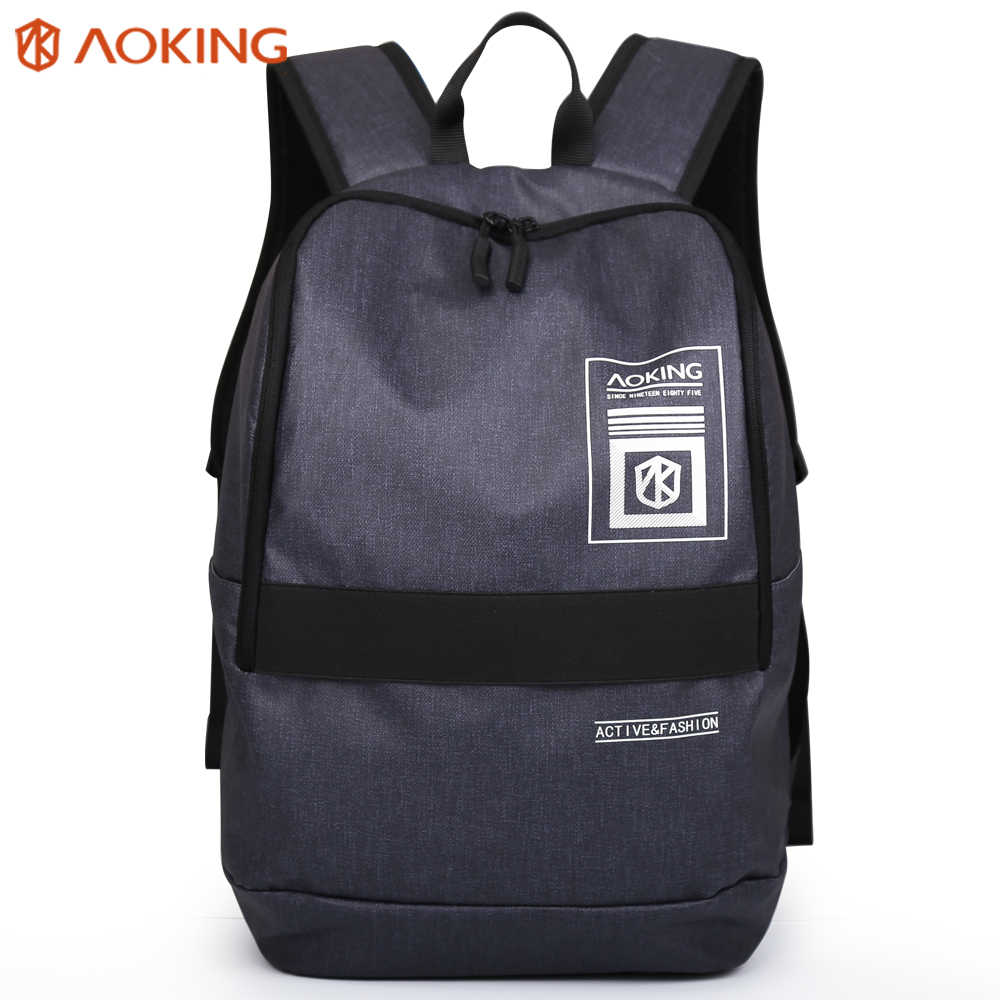 "Aoking Daily Girl Backpack 15.6""Laptop Waterproof Large Capacity Unisex Leisure Teenage Sport Backpack Schoolbag for Male Women"