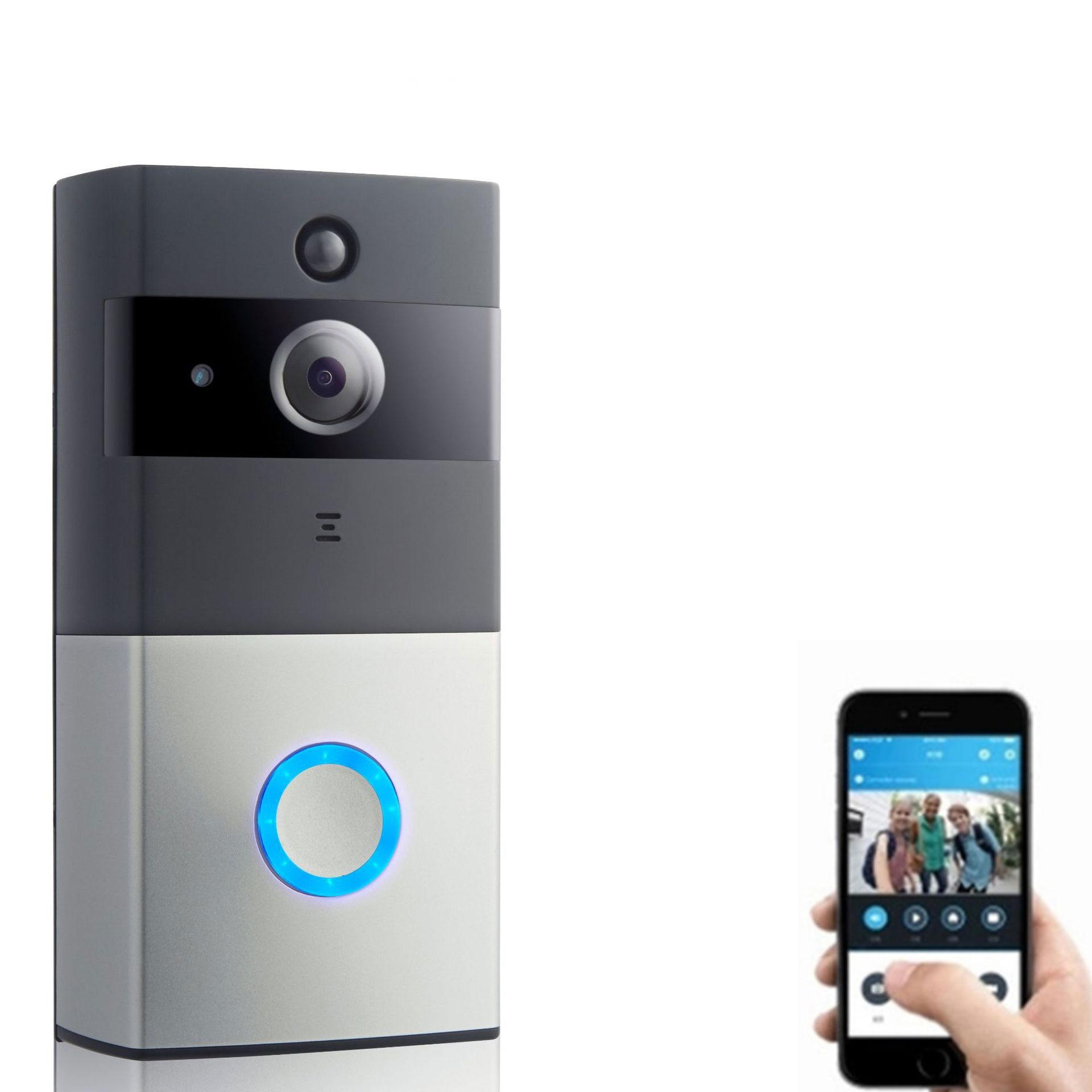 720 P Беспроводной Wi-Fi Визуальный дверной звонок Инфракрасный ночное видение удаленный мониторинг Визуальный дверной Звонок ip дверной звоно...