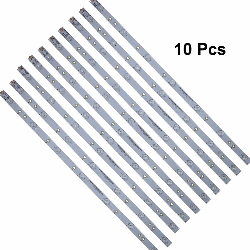 10 Stks Echt Led Tv Backlight Strip Bar Voor Gj-2k15 D2p5-315 D307-v3.1 (17.8mm) Reparatie Vervanging Deel 7 Leds Superieure Prestatie