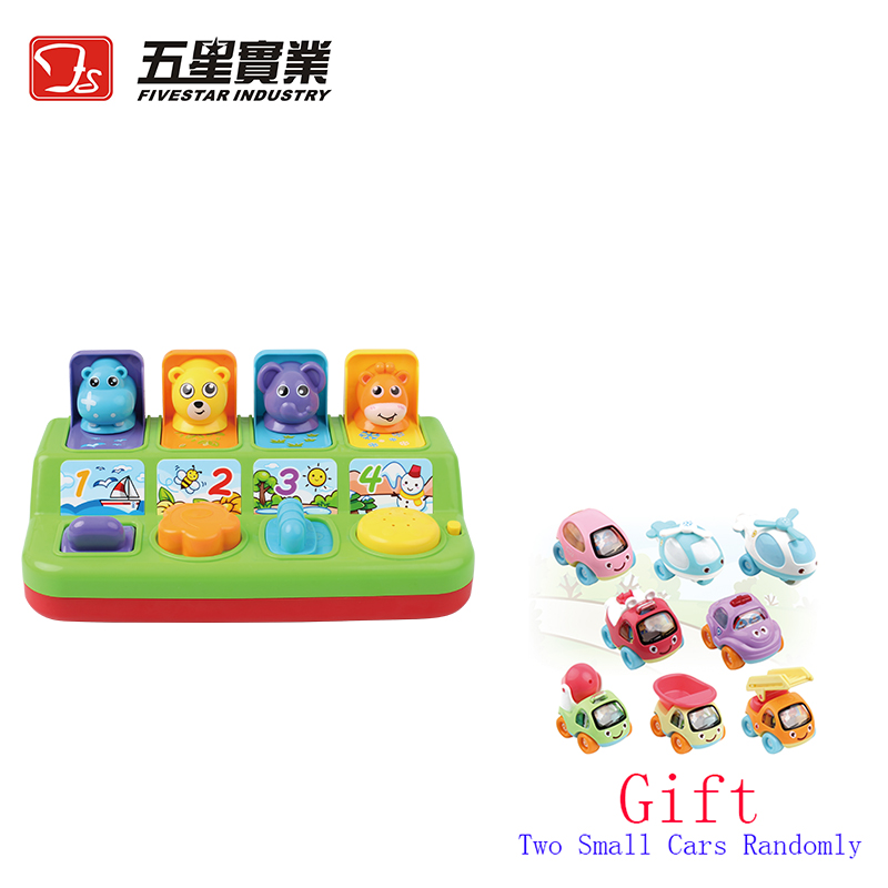 US $42 99 |Pop Up Game toy kids toys educational toys game electronics cute  animals kids game music kids educational games 13 24 months-in Toy Phones