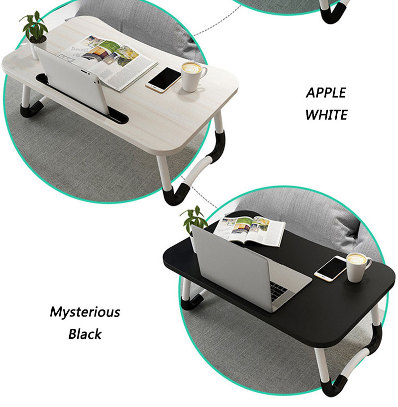 apple white and mysterious black table