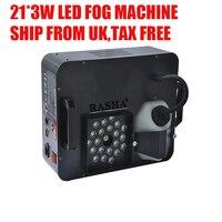 UK WAREHOUSE Tax Free 21*3W RGB LED Fog Machine Colorful DMX Smoke Machine Hazer Fazer Stage Special Effects Stage Light