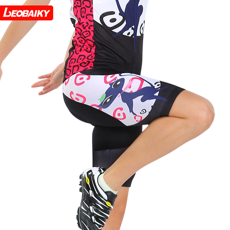 LEOBAIKY 2018 Women Padded Quick Dry Cycling Shorts Mountain Bike Bicycle Tight shorts Cool Ropa Ciclismo Men cycling clothing