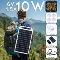 6V 10W 1.5A Portable Monocrystalline Solar Panel Slim & Light USB Charger Charging Power Bank Pad