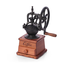 GZZT Manual Coffee Grinders Coffee Bean Mills Grinding Wooden Base Mini Handheld Coffee Maker Machine Household tube merol coffee machine pipe coffee maker spare parts component brew unit main board inlet valve grinding motor gear
