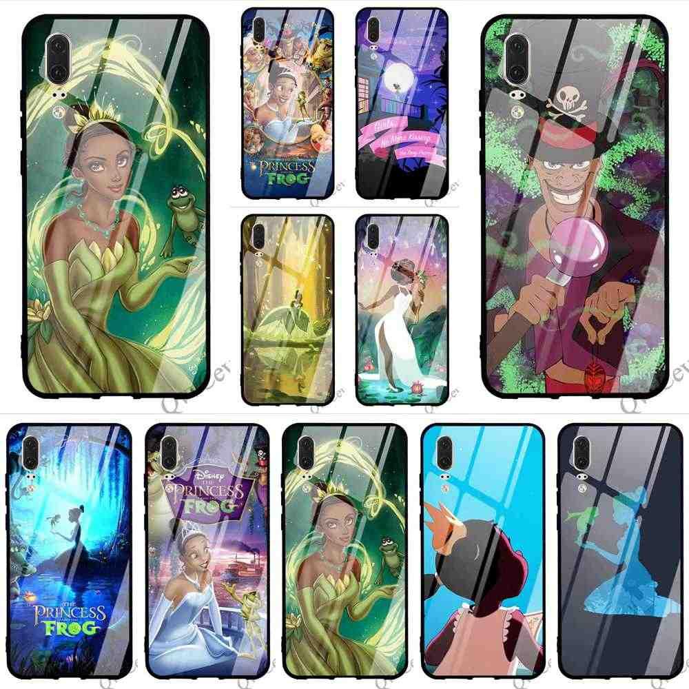 De moda de princesa y la rana de la funda del teléfono para Huawei P20 Pro 10 7A Y6 Y9 Honor 9 P10 Lite P Smart Mate 20 cubre la piel