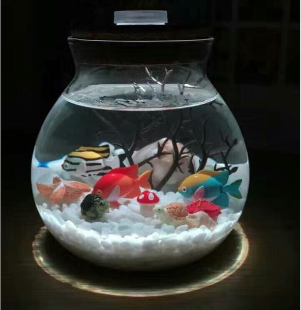 Fashion Glass Moss Microlandschaft Bottle Glass Vase Pot With Led