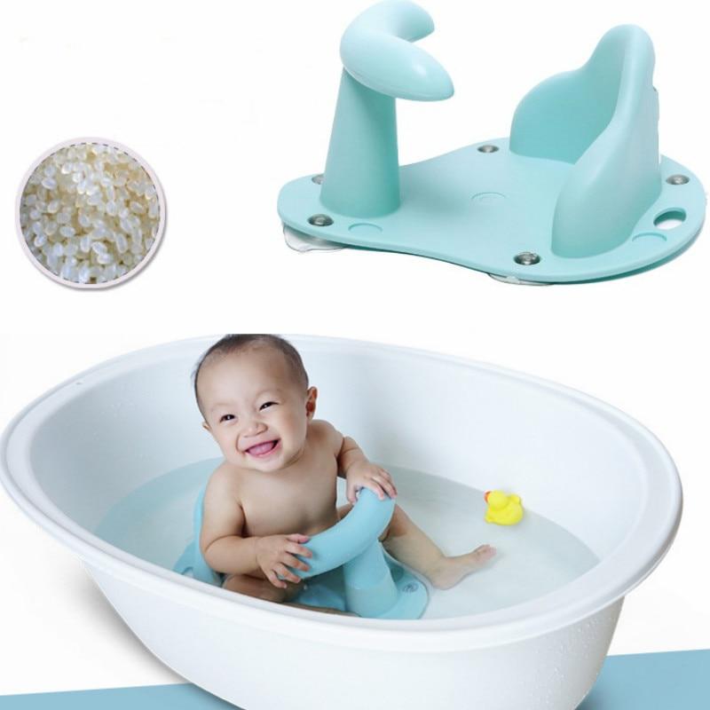 Infant Baby Bath Tub Ring Seat Safety Bath Chair Frame Baby Bath Shower Rack Anti Slip Bathtub Pad Kids Bath Tub Toy 0-24 Months
