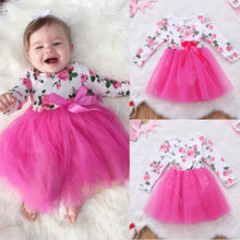 Newborn Baby Girl Infant Romper Jumpsuit Bodysuit Tulle Lace Dress