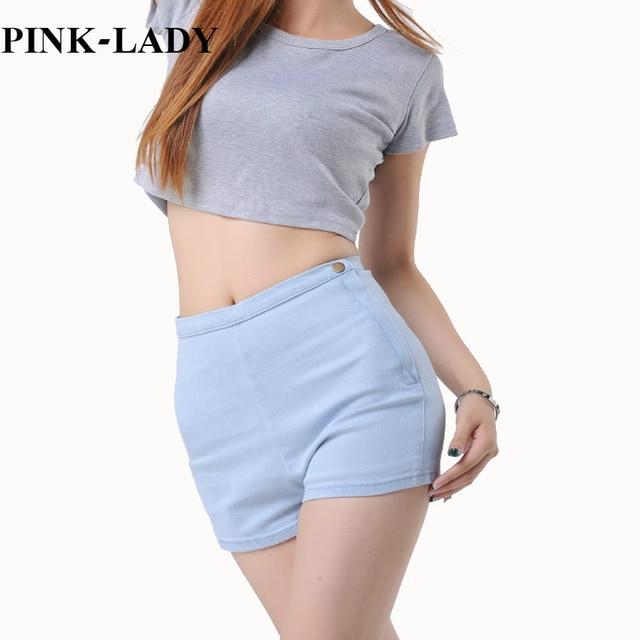 2015 Summer Womens Vintage Sexy Fitness High Waisted Blue Jeans Denim Shorts cintura alta shorts jeans pantalones cortos mujer