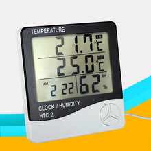 Weather Station Indoor Outdoor Digital Thermometer Electronic Hygrometer LCD C/F Temperature Humidity Meter Alarm Clock Sensor