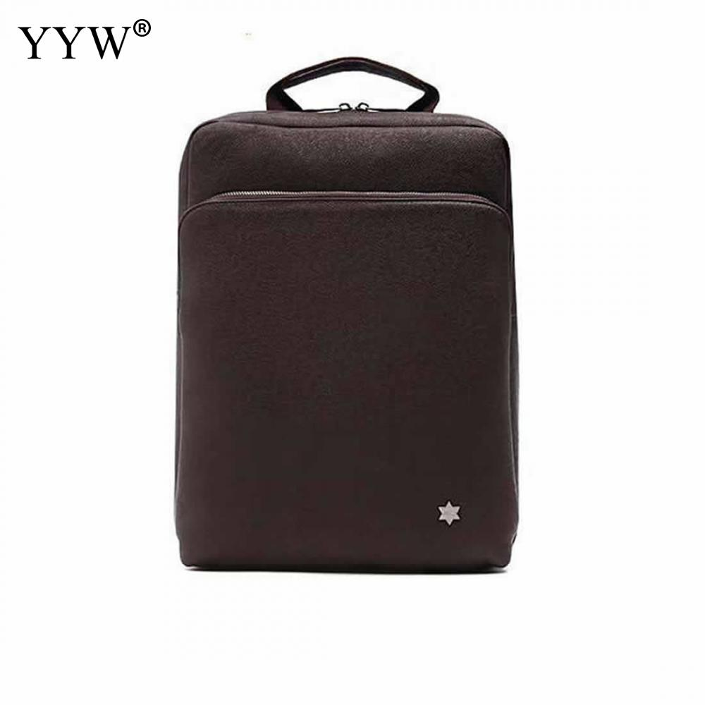 YYW Laptop Backpack Men Cheap Fashion Solid Black Pu Leather Bags Rucksack School Travel Bag Male Backpack Mochila Masculina men laptop backpack mochila masculina 15 inch backpacks women school bag luggage travel bags male shoulder bag rucksack packsack