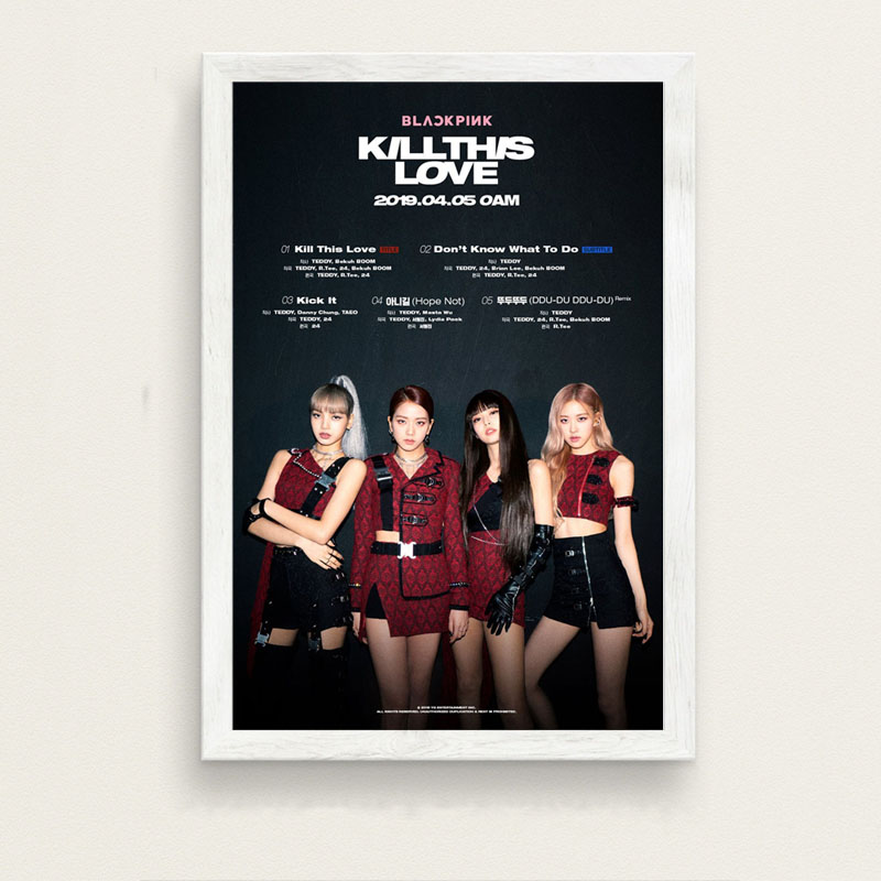 P361 BLACKPINK Kill This Love K-POP Music Girl Group Fashion New Album Art  Painting Silk Canvas Poster Wall Home Decor