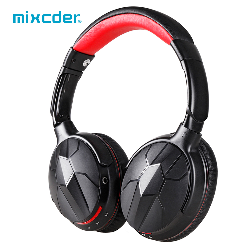 Mixcder HD501 Wireless Wired Bluetooth Headphones Built in Microphone Noise Isolation Over ear Headsets For Mobile