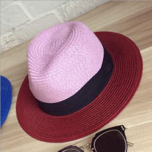 Europe and tropical fruit multicolor hat beach hat big hit in Europe and saving color flat wide-brimmed straw hat brim woman