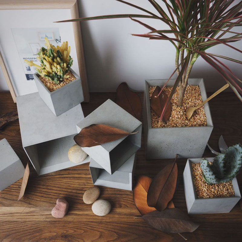 실리콘 몰드 기하학적 꽃 냄비 금형 정원 장식품에 대 한 콘크리트 금형 발코니 꽃 냄비 홀더 금형-에서케이크 틀부터 홈 & 가든 의  그룹 1