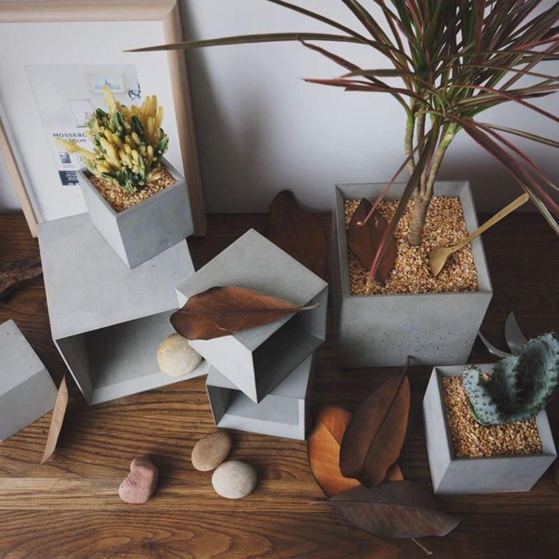 Maceta de Flores de Cemento jarr/ón Redondo Manualidades Plantas suculentas GUOQIAO Molde de Silicona decoraci/ón del hogar macetas de hormig/ón