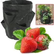 Feltro pano/pe flores cultivo morango vegetal plantio crescente sacos jardim suprimentos morango recipiente crescer ofício