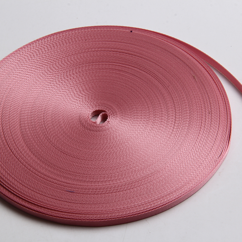 high quality nylon ribbon 7mm pink color 1 4 inch grosgrain bia in Webbing from Home Garden