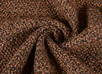 British vintage brown weave wool cashmere fabric coat ,printing Textile hollandais african sequin Christmas cloak fabric A153