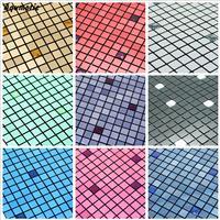Aqumotic Scatola di Vetro Mosaico Adesivi Murali Soggiorno Autoadesivo della Priorità Bassa Della Parete Viene Fornito Con Adesivo Home Decor Materiali da Costruzione