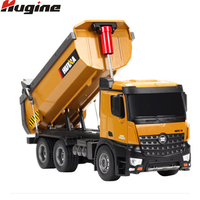 RC Dumper Truck Tilting Cart 2.4G Tip Lorry Remote Control Mine Machine 4WD 10CH Truck Electronic Vehicle Model Kids Hobby Toys