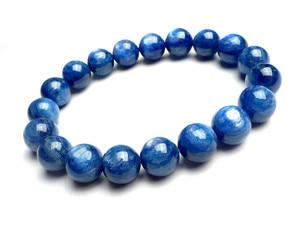 Genuine Natural Blue Kyanite Gemstone Bracelets Crystal Round Bead Stretch Woman Men Bracelet 11mm