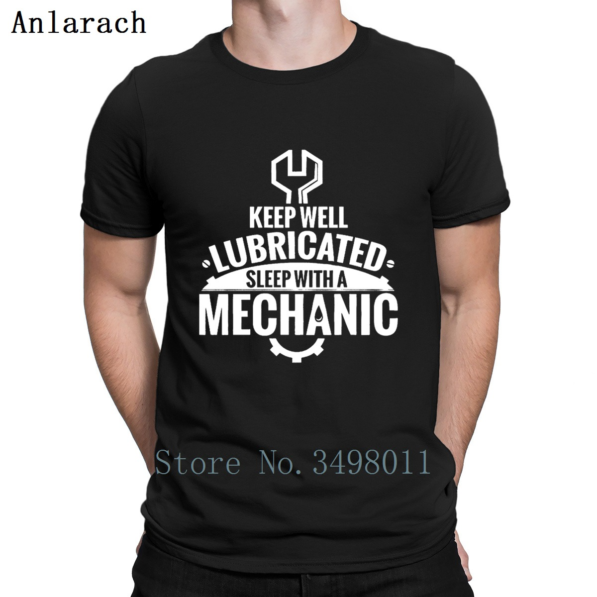 b0a18f0c Keep Well Lubricated Sleep With A Mechanic Funny G T Shirt Customize Tee  Shirt Crew Neck Interesting Comical Leisure Shirt