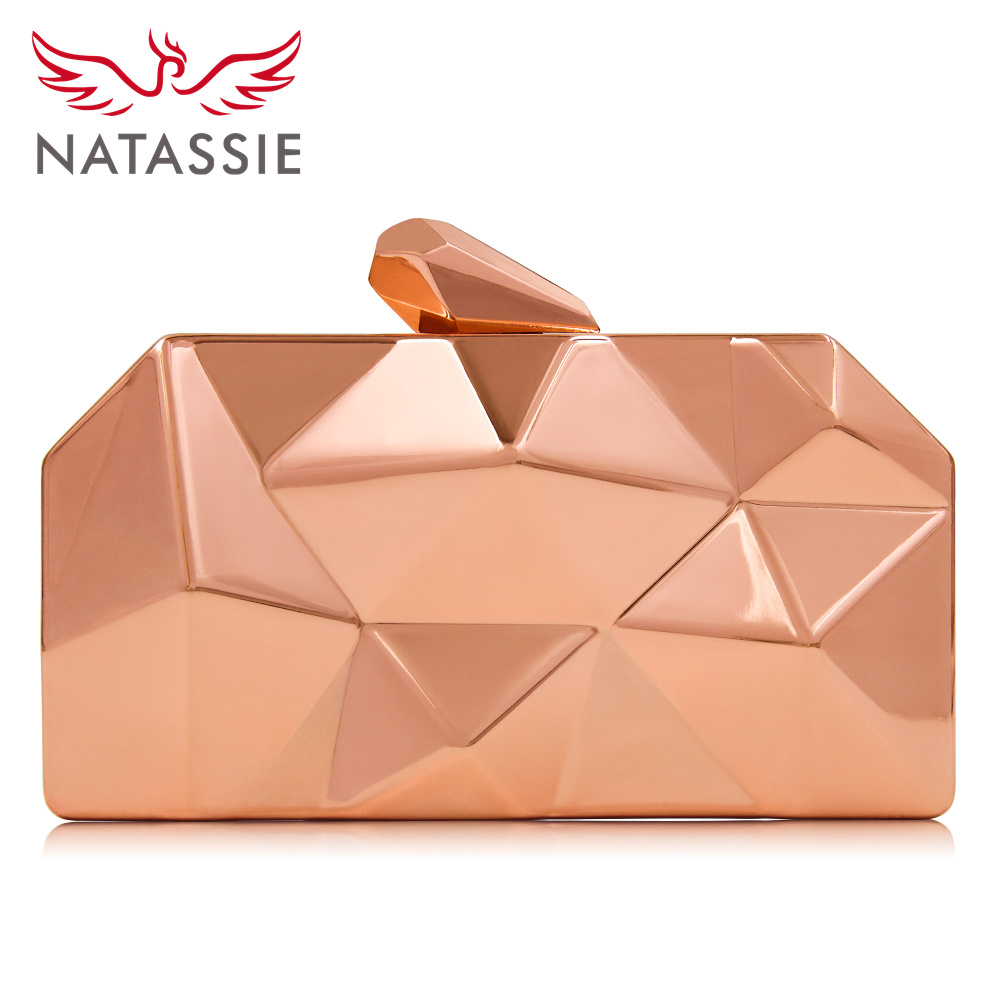 NATASSIE Women Clutch Bag Ladies Evening Clutch Bag Female Metallic Wedding Party Clutch Purses patricia