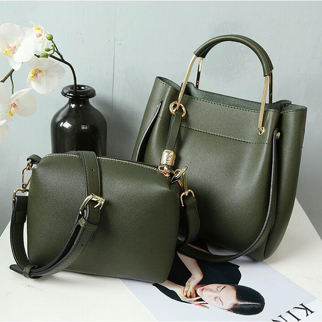 38d3681a75e6 HOT SALE Women s PU Leather Shoulder Bags Handbags Famous Brands 2018  Fashion Lady s Tote Composite Hand