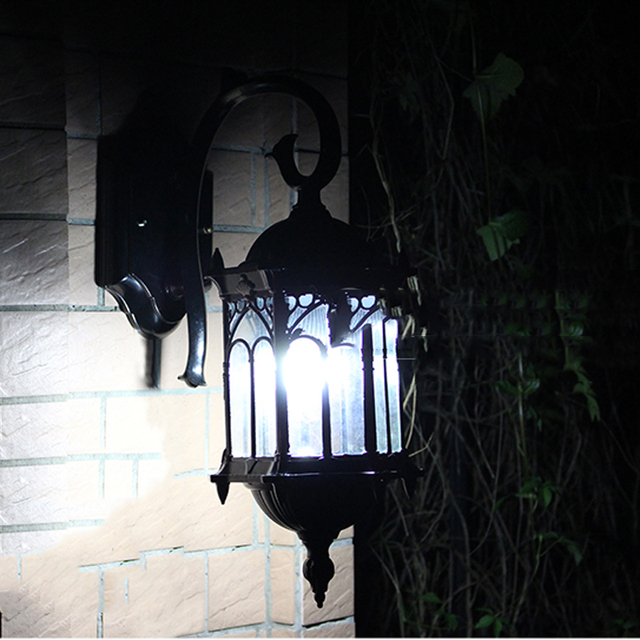 European outdoor retro wall light,rain-proof garden cirrodor gazebo villa garden lighting fixtures yard gateway door wall lamp 1